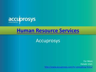 HR Services by Accuprosys