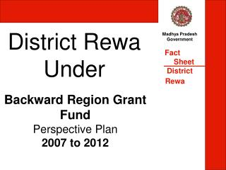 District Rewa Under
