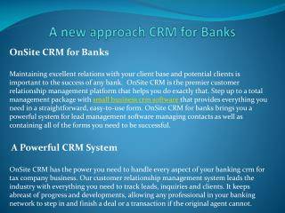 A Powerful CRM System