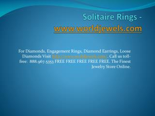 Solitaire Rings -www.worldjewels.com