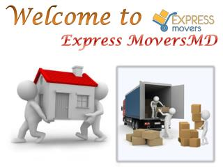 Welcome to ExpressMoversMD