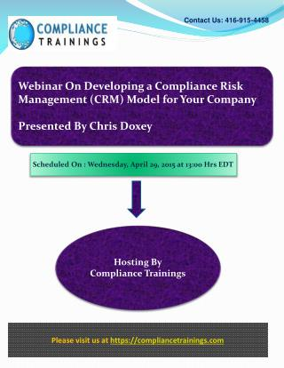 Developing a Compliance Risk Management Model