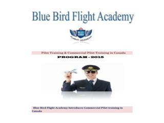 Pilot Training & Commercial pilot Training in Canada - BBFA