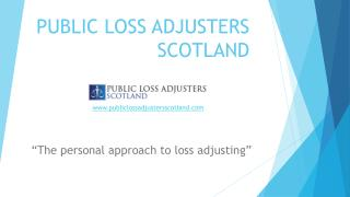 Public Loss Adjusters Scotland