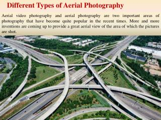 Different Types of Aerial Photography