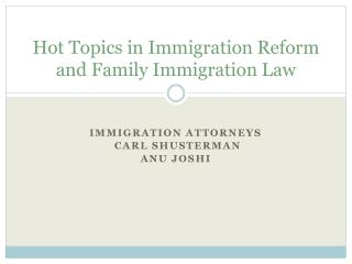 Hot Topics in CIR and Family Immigration