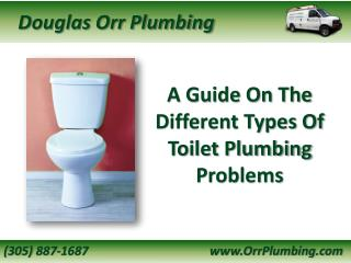A Guide On The Different Types Of Toilet Plumbing Problems