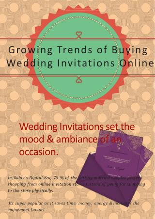 Growing Trends of Buying Wedding Invitations Online