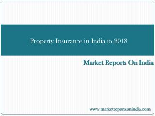 Property Insurance in India to 2018: Market Databook