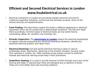 Electricians in London