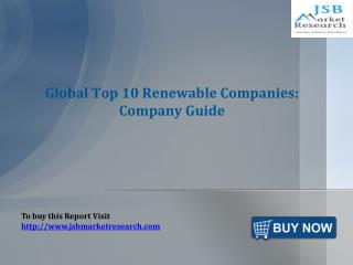 JSB Market Research: Global Top 10 Renewable Companies: Comp