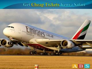 Get Cheap Plane Tickets to Kenya Safari by FlyAbs.com