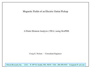 Magnetic Fields of an Electric Guitar Pickup