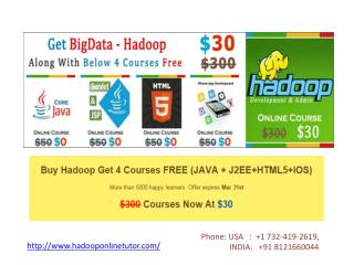 Hadoop Video Training at Low Cost
