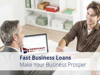 Fast Business Loans from Merchant Advisors