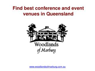 Find best conference and event venues in Queensland