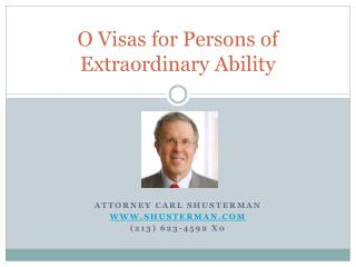 O Visas for Persons of Extraordinary Ability
