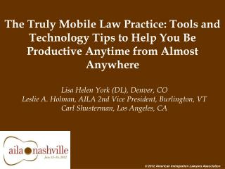 The Truly Mobile Law Practice
