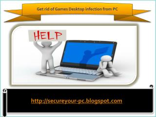 How to remove Games Desktop