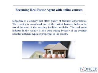 Becoming Real Estate Agent with online courses