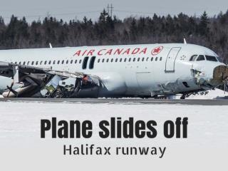 Plane slides off Halifax runway