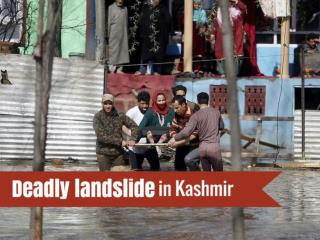 Deadly landslide in Kashmir