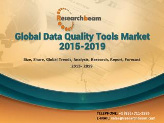 Global Data Quality Tools Market 2015-2019