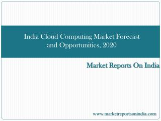 India Cloud Computing Market