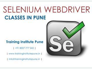 Selenium Webdriver classes in pune