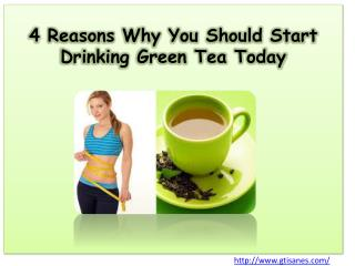 4 Reasons Why You Should Start Drinking Green Tea Today
