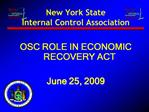 New York State  Internal Control Association