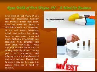 Ryan Webb Fort Wayne IN | Investor