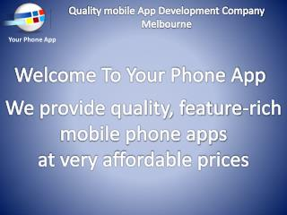 Quality mobile App Development Company Melbourne