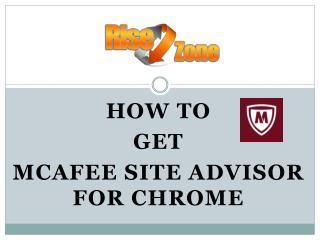 How to Get McAfee Site Advisor for Chrome