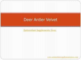 Deer Antler Velvet – Maximum Strength Formula