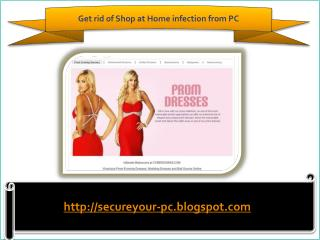How to remove Shop at Home