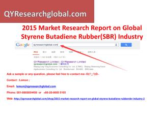 Deep Research on Global Styrene Butadiene Rubber(SBR)