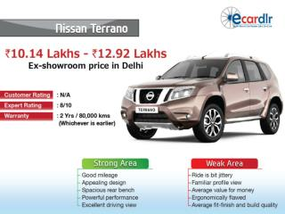 Nissan Terrano Prices, Mileage, Reviews and Images at Ecardl