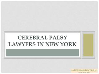 Fitzgerald law firm -Cerebral Palsy Lawyers in New York