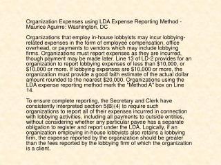 Maurice Aguirre lobbyist