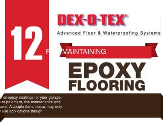 12 Tips for Maintaining Epoxy Flooring