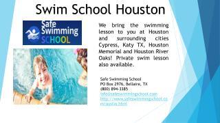Private Swim School Lessons Houston