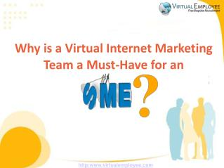Why is a Virtual Internet Marketing Team a Must-Have for an