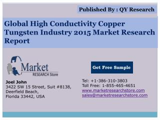 Global High Conductivity Copper Tungsten Industry 2015 Marke