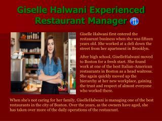 Giselle Halwani Experienced_ Restaurant Manager