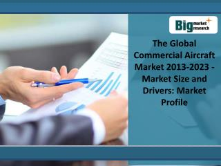 Gain Insight Of Global Commercial Aircraft Market 2013-2023