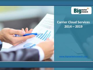 Carrier Cloud Services Market Size, Share, Trends 2014-2019