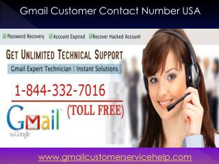 Gmail Account Recovery 1-844-332-7016 Phone Number