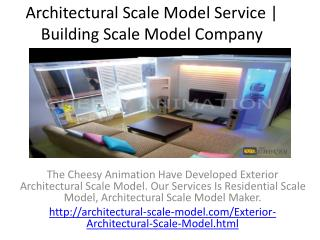Exterior Architectural Scale Model | Maker | Residential