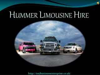 Enjoy Your Day By Hiring A Hummer Limousine